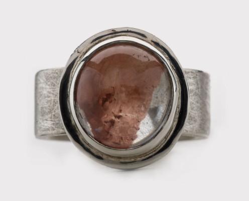 Bicolor Quarz in 925er Silber gefasst, gebürstet - Preis: 345,-€