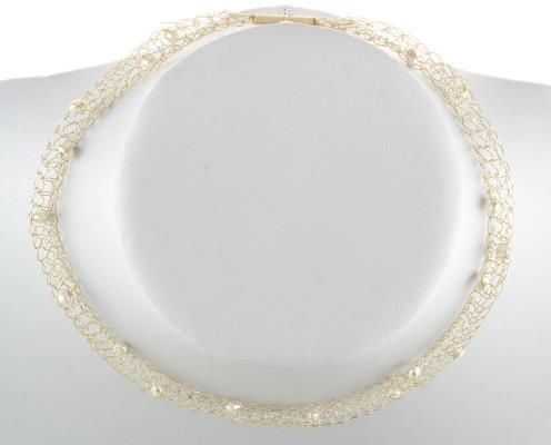 Perlen-Collier mit 925er Silber